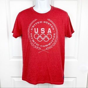 Team Apparel Red USA Olympic Committee Tee Shirt